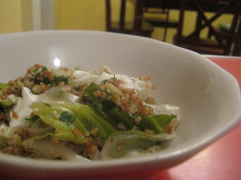 cabbage and bulgur wheat pilav