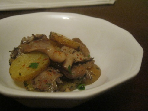 potato and mushroom al forn