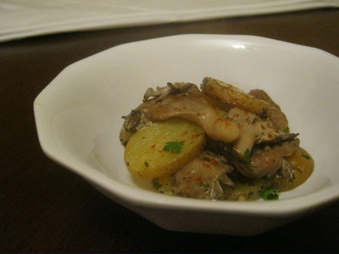 mushroom and potato al forn