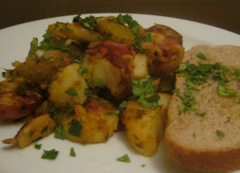 Moroccan spiced potato salad