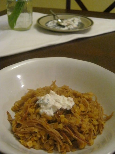 lentil and angel-hair pilav