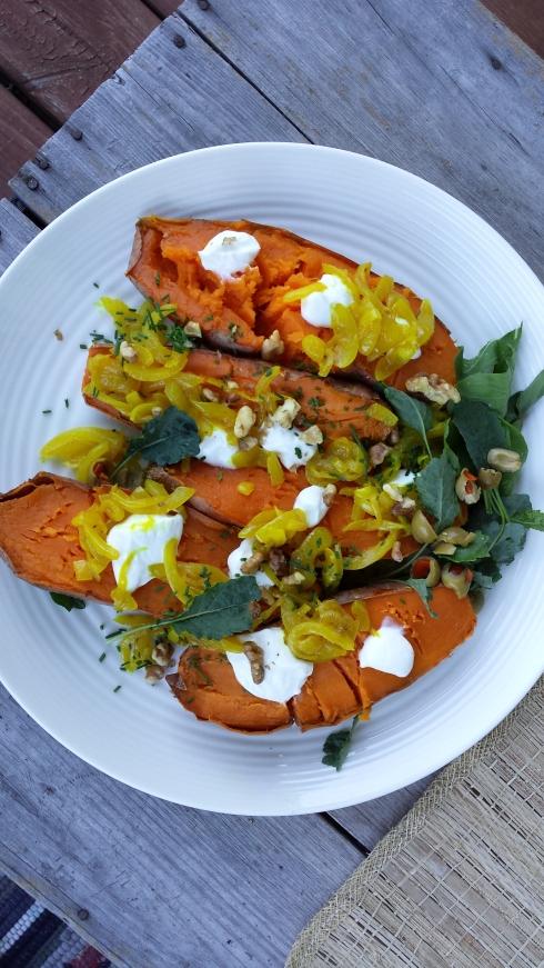heidi's salt-baked sweet potatoes